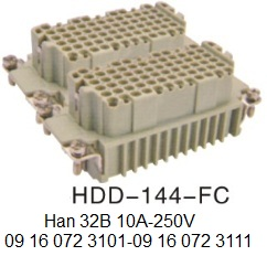 HDD-144-FC Han 32B H32B 10A-250V 09 16 072 3101 with 09 16 072 3111 44pin-female-crimp-OUKERUI-SMICO-Harting-Heavy-duty-connector.jpg