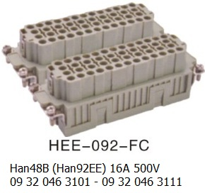 HEE-092-FC  Han 48B(Han92EE) 16A 500V 09 32 046 3101 with 09 32 046 3111 crimp 92pin-female-OUKERUI-Harting-Heavy-duty-connector.jpg