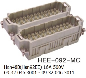 HEE-092-MC Han 48B(Han92EE) 16A 500V 09 32 046 3001 with 09 32 046 3011 crimp 92pin-male-OUKERUI-Harting-Heavy-duty-connector.jpg