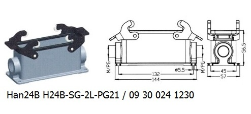 Han 24B H24B-SG-2L-PG21 09 30 024 1230 surface mounting 2lever OUKERUI Harting ILME Heavy duty connector.jpg