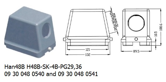 Han 48B H48B-SK-4B-PG29,36 09 30 048 0540 and 09 30 048 0541 hood side entry OUKERUI Harting ILME Heavy duty connector.jpg