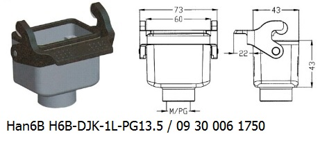 Han 6B H6B-DJK-1L-PG13.5 09 30 006 1750 Cable to cable coupler 1lever OUKERUI Harting ILME Heavy duty connector.jpg