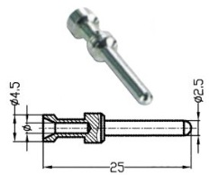 crimp contact female pole 40A Heavy duty connector